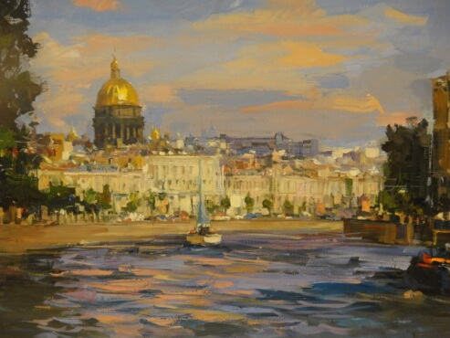 St. Petersburg.   canvas, oil.  50x70