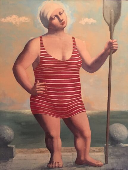 A Woman with Paddle (100х85 oil on canvas)