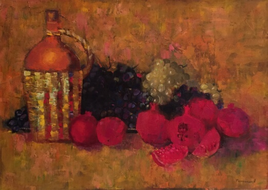 Still Life with Grapes (50x70 oil on canvas)