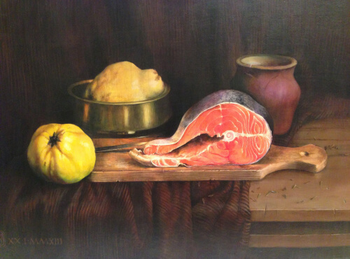 Still Life with Red Fish (60х80 oil on canvas)