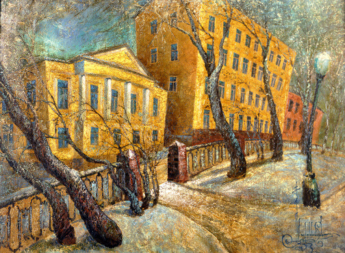 Chriistmas boulevard  (60x80  oil on canvas)