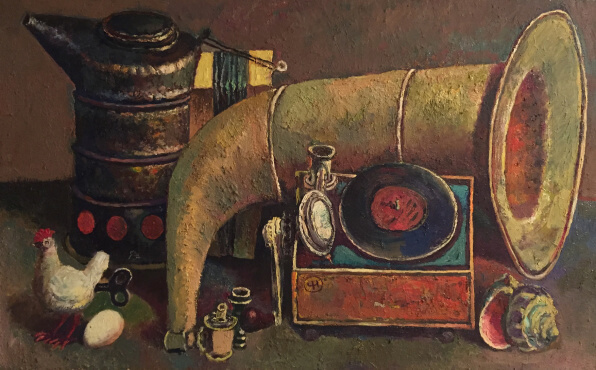Gramophone (50х80 oil on canvas)
