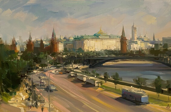 Moscow. Kremlin view   40x60 oil on canvas