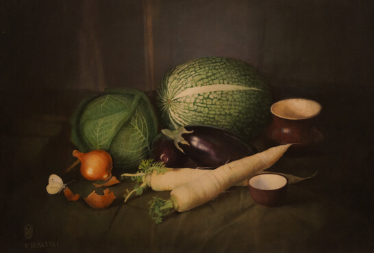 Still Life with a Squash (70х100 oil on canvas)